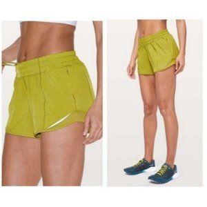 Lululemon RARE hotty hot shorts golden lime 6